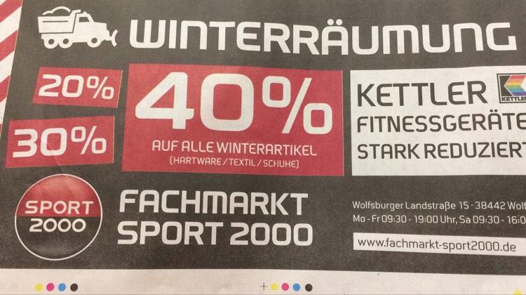 Bis zu 40% auf alle Winterartikel bei Sport 2000 in Wolfsburg