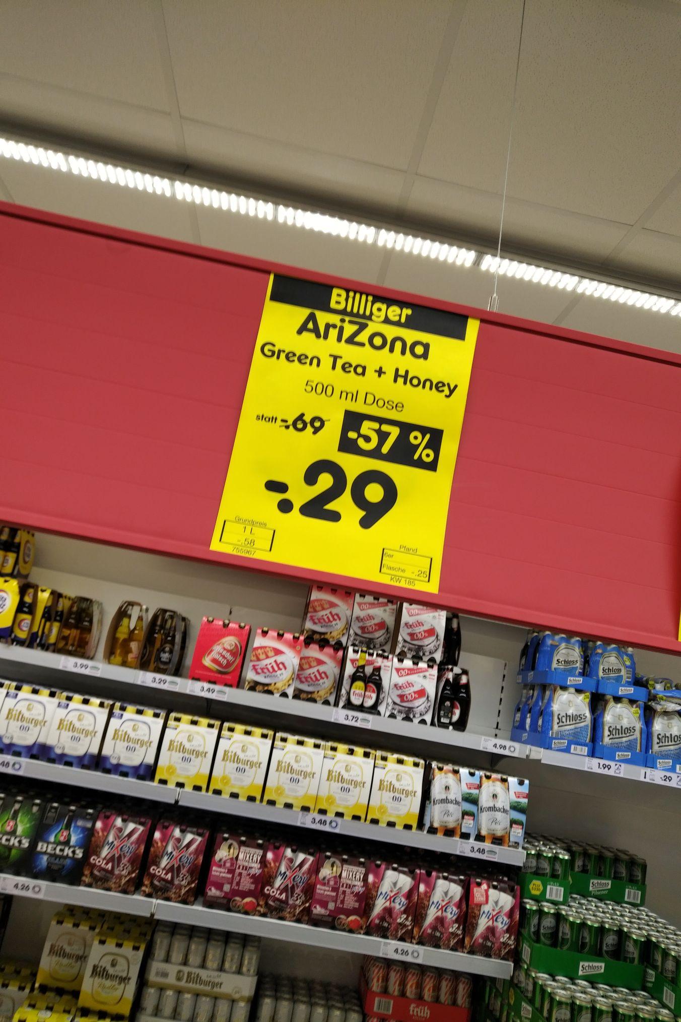 Netto Arizona Dosen Getränk auf 0,29€ reduziert