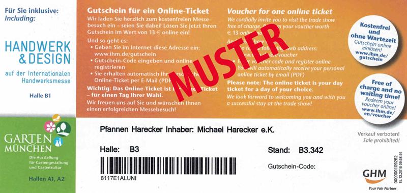 """Freikarten (Tagesticket) für die Messe """"HEIM+HANDWERK""""  in München (07.03. - 13.03.2018)"""