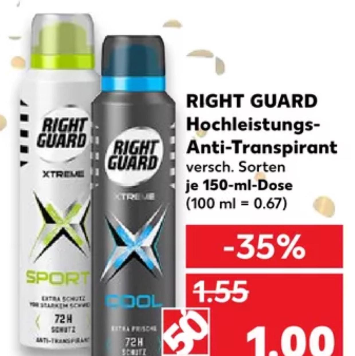 [Kaufland] Right Guard versch. Nur 1€