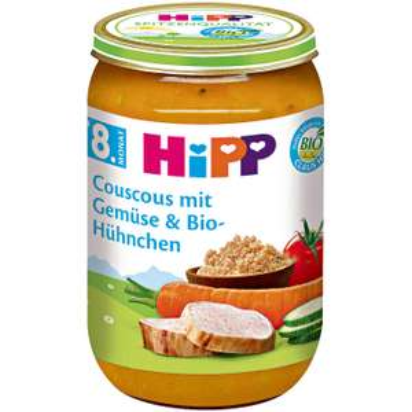 Bio Menü Couscous mit Gemüse & Bio-Hühnchen HiPP Rossmann