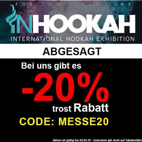 20% Bei Shisha-World auf alles außer Tabak