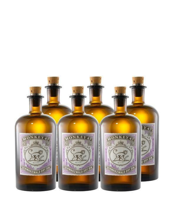 Black Forest  Monkey 47 Dry Gin 6er-Set 3,0l  (25,85€ / 0,5l)