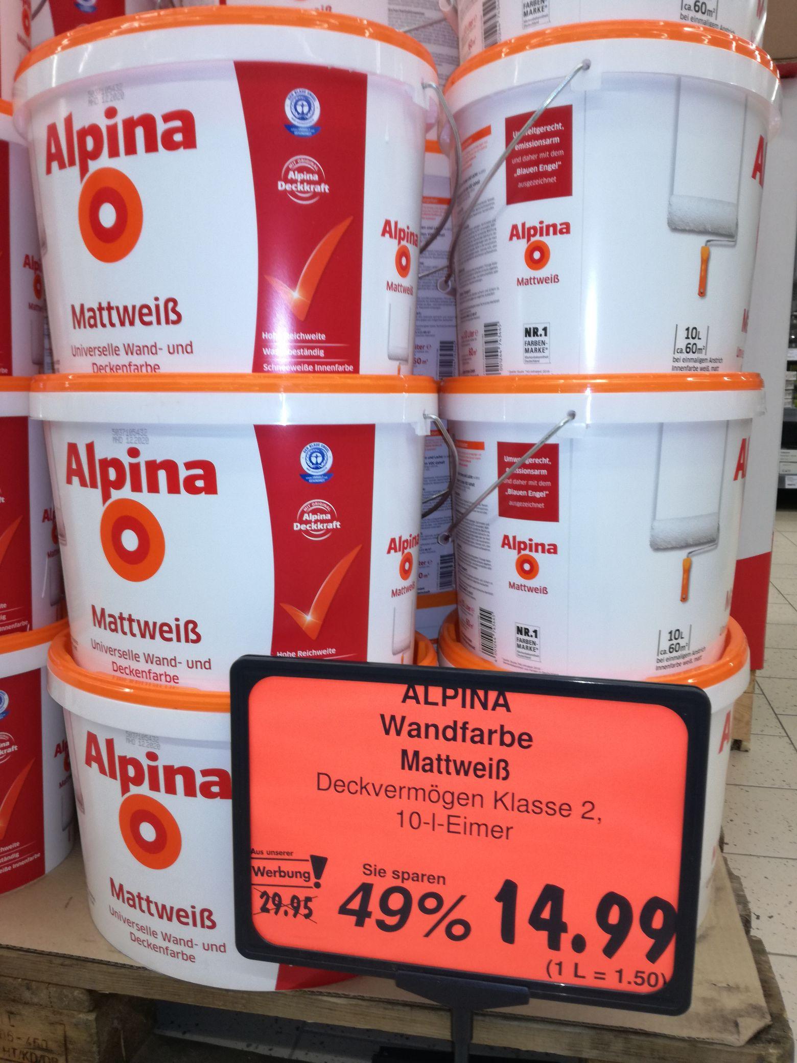 """Kaufland """"bundesweit"""" - Alpina Weiß 10l matt...Aktion"""