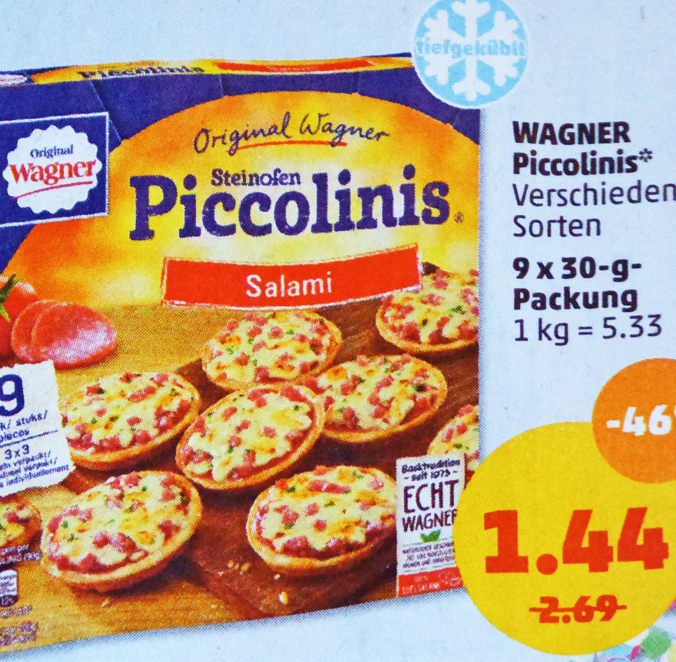 WAGNER Piccolinis 46% günstiger für nur 1,44€ @Penny