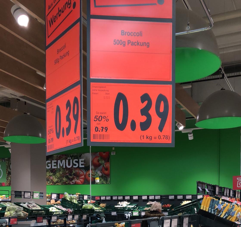 39 Cent Brokkoli kaufland