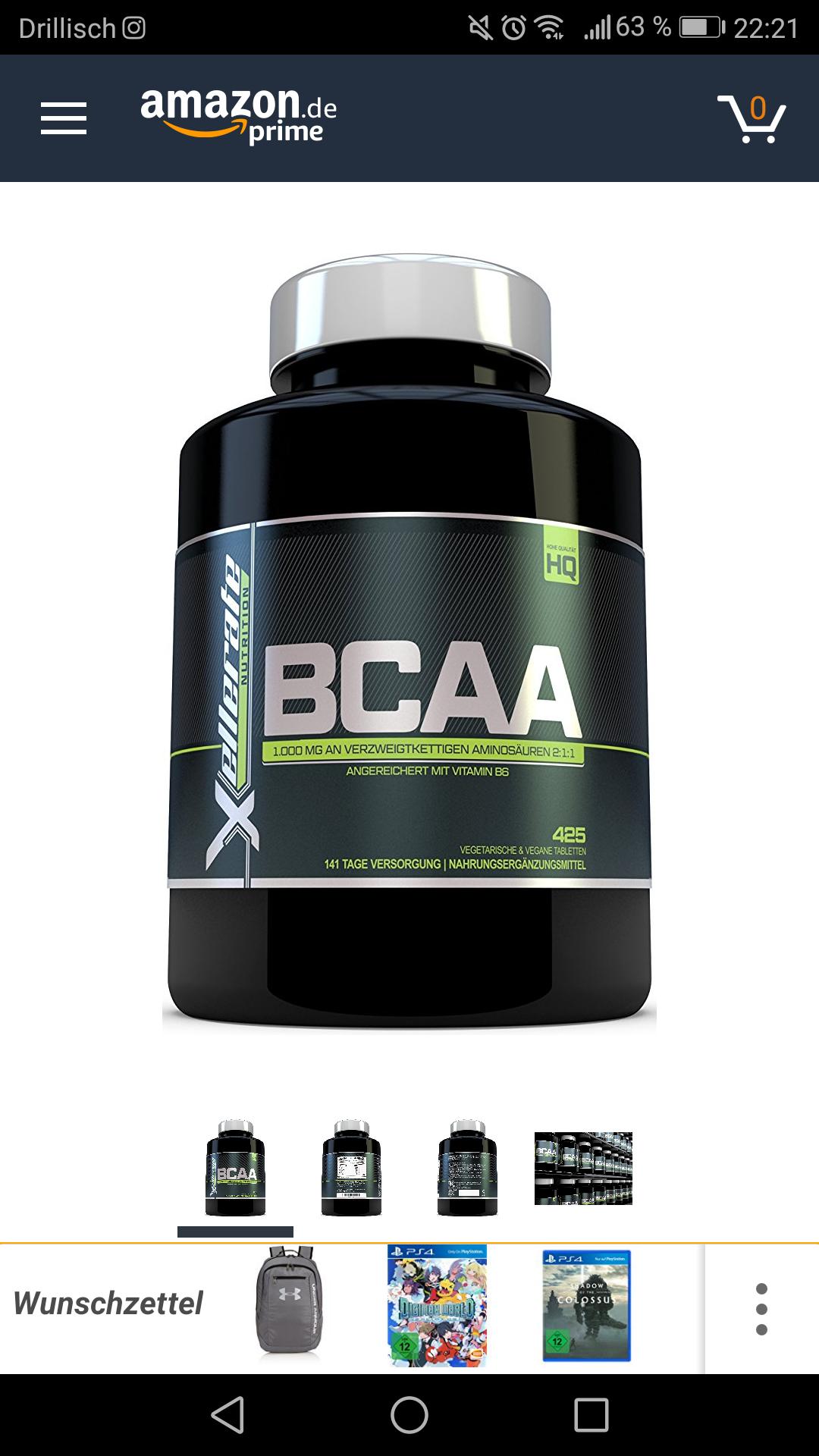 BCAA Tablette 1000 mg - 425 Tabletten