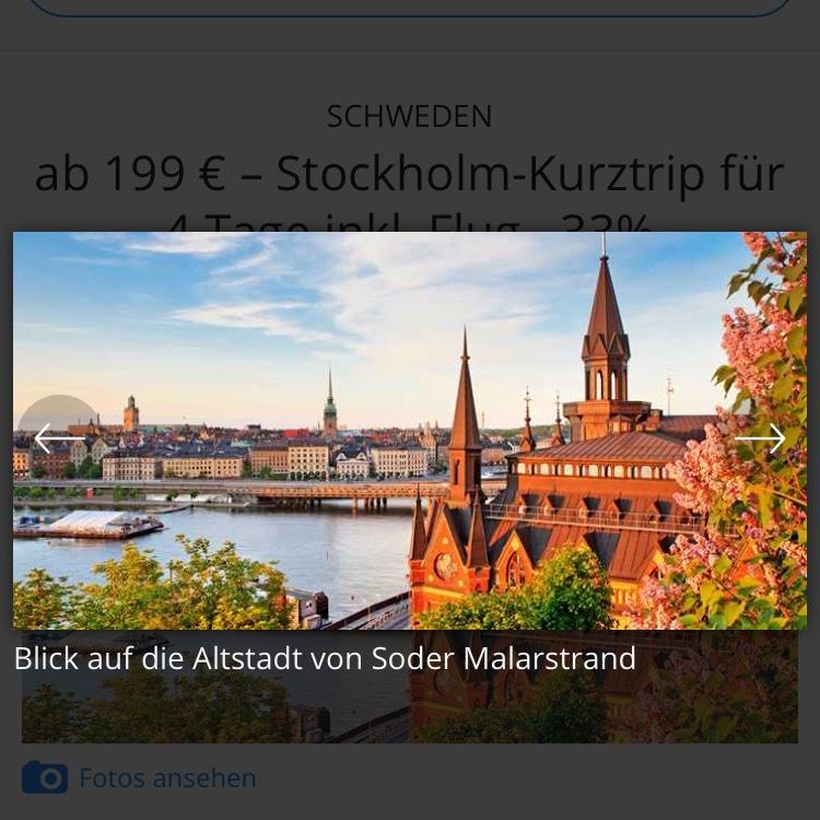 Stockholm-Kurztrip für 4 Tage inkl. Flug ab 199€