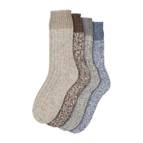 Norwegersocken schöne dicke Qualität mit 50% Wolle & knielang
