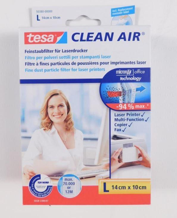 [eBay] tesa Feinstaubfilter für Laserdrucker Clean Air Größe L 17,58 € inkl. Versand