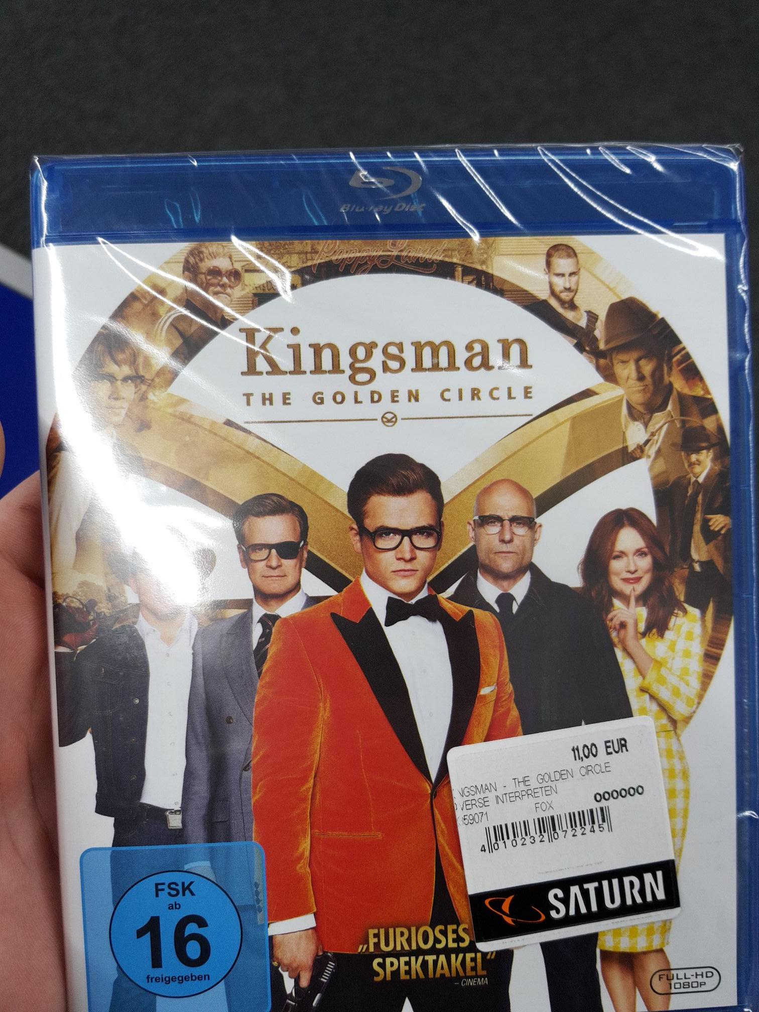 [Lokal Saturn Hannover] Kingsman 2 The Golden Circle BluRay für 11€