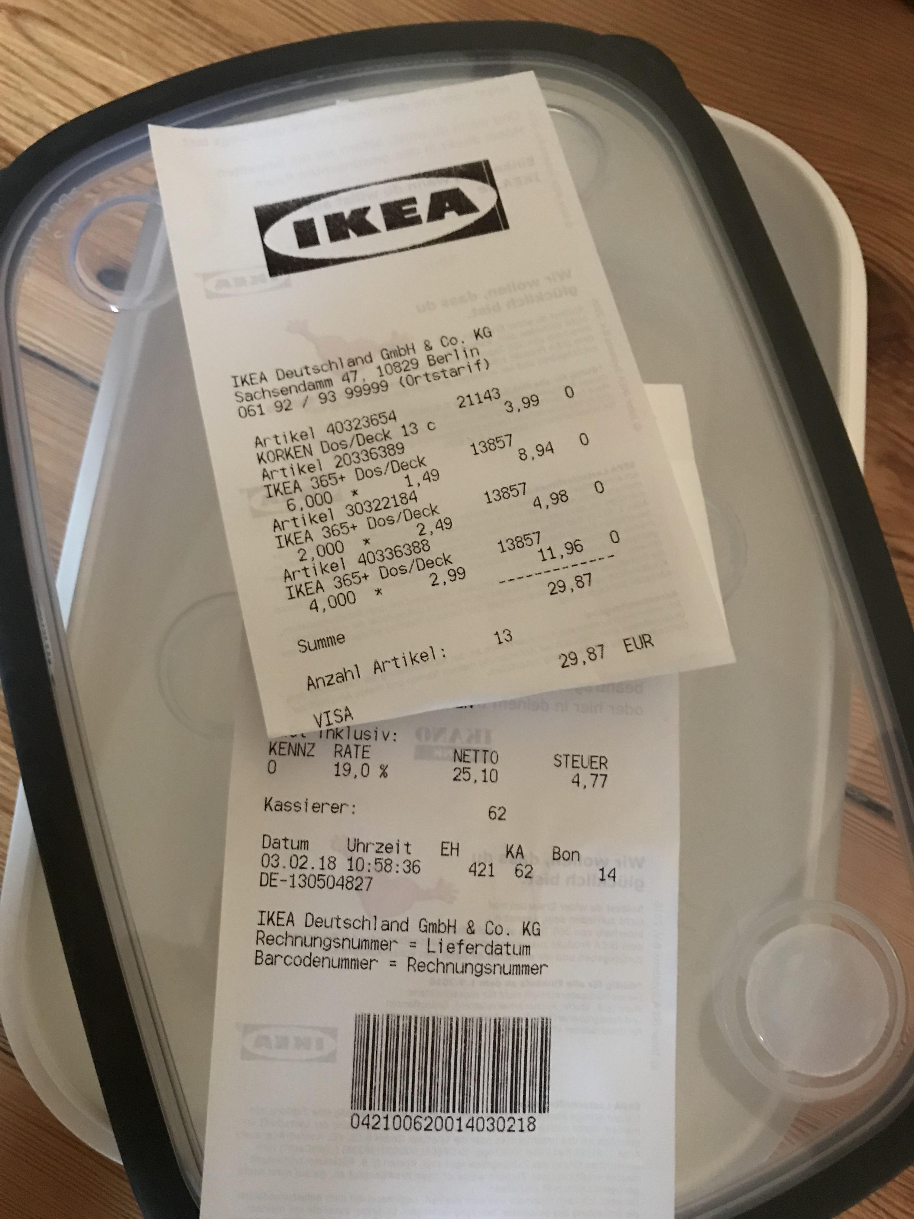 [IKEA Tempelhof] Dose mit Deckel IKEA 365+ 25x17x6 weiß/grau