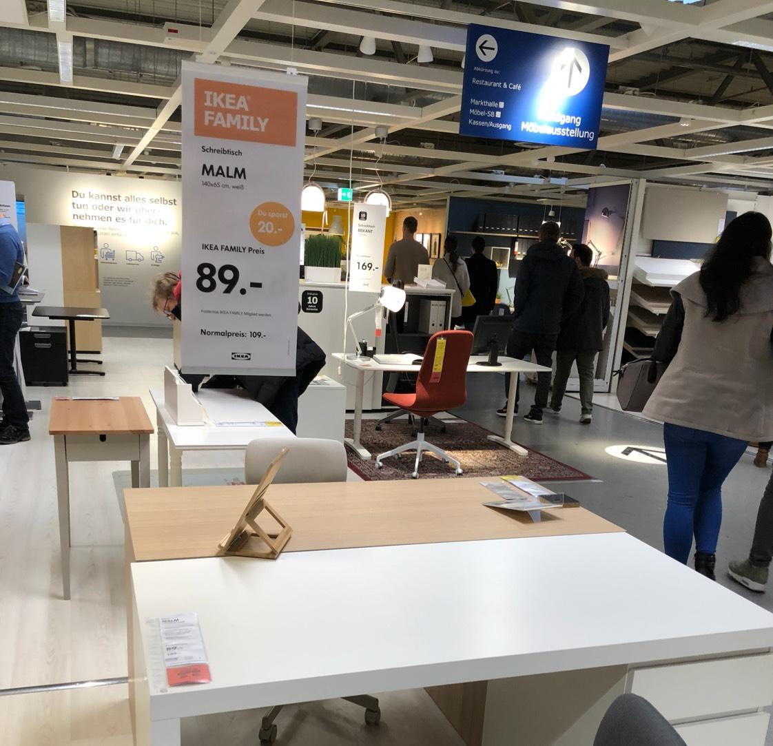 (Ikea Family / Bundesweit) MALM Schreibtisch