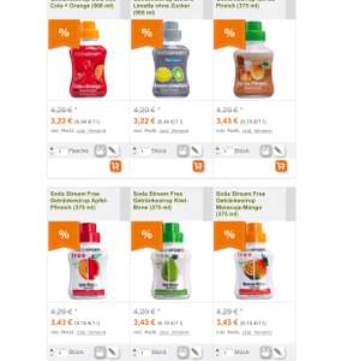 [mytime] Soda Stream verschiedene Sirupsorten ab 3,22€