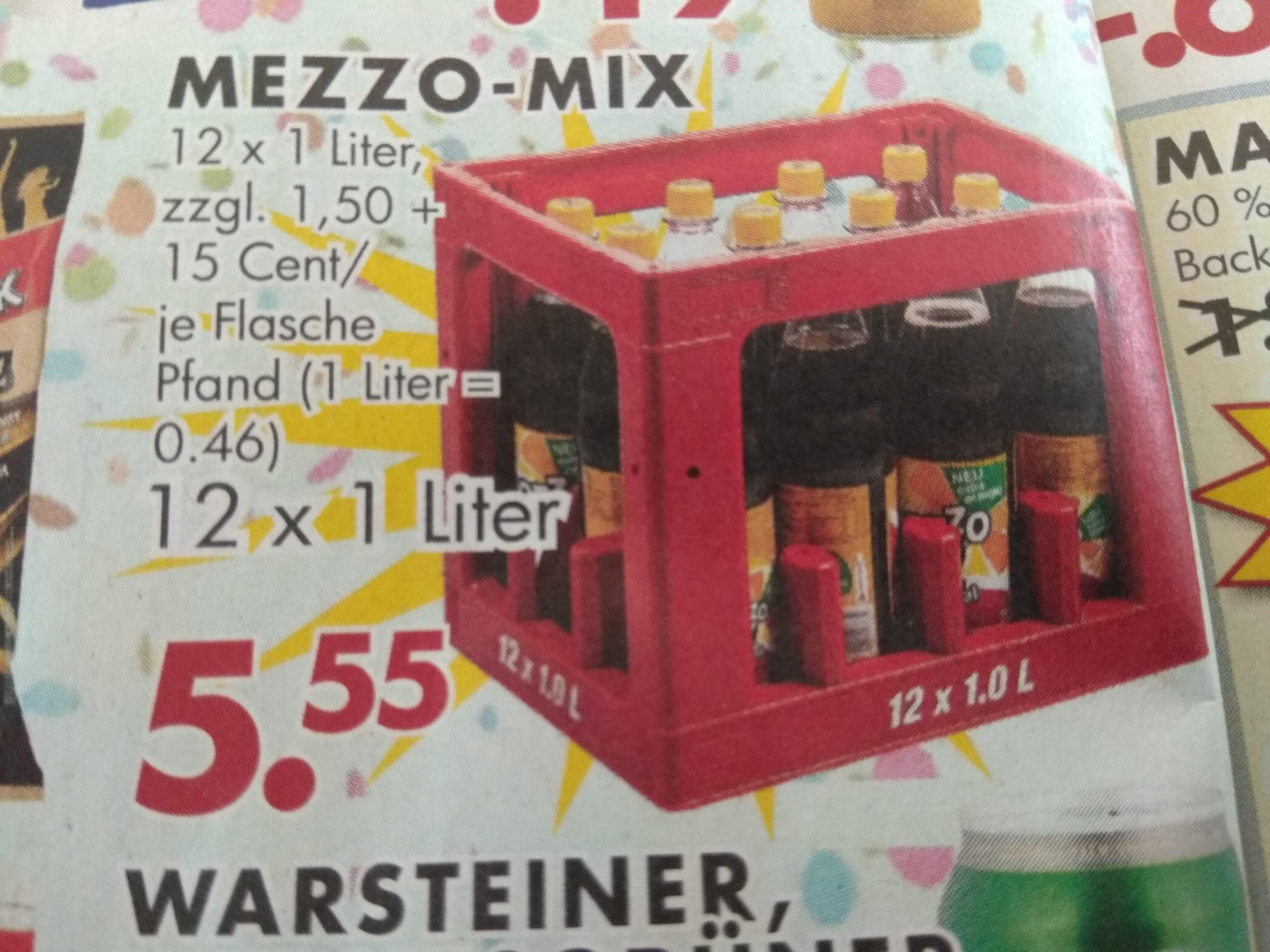 [Jawoll] Kiste Mezzo-Mix (12x1l) für 5,55€ (1l =0,46€)