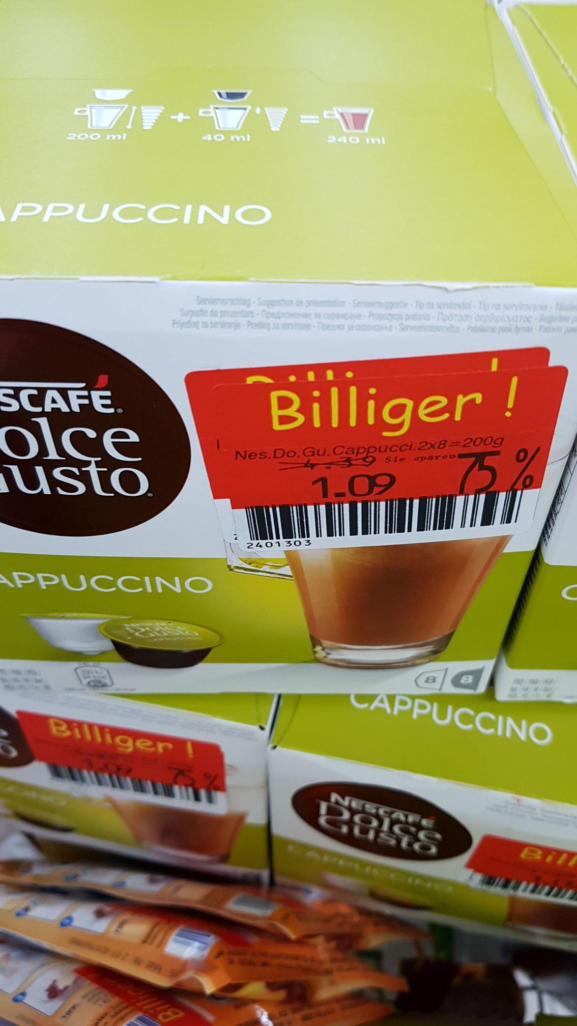 [LOKAL] KAUFLAND Siegen (Hagener Str.) DOLCE GUSTO Cappuccino für 1.09€