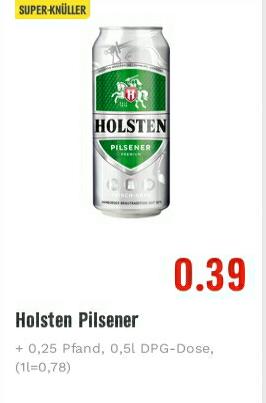 Edeka: Holsten knallt am dollsten - 0,5L Dose für 0,39€ ( zzgl Pfand)