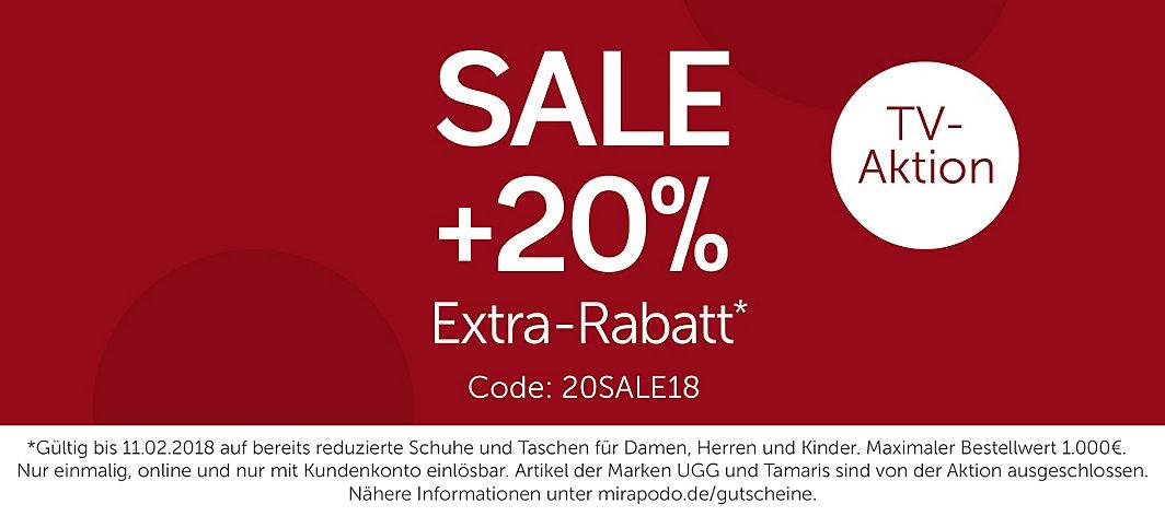 [mirapodo] SALE + 20% Extra-Rabatt