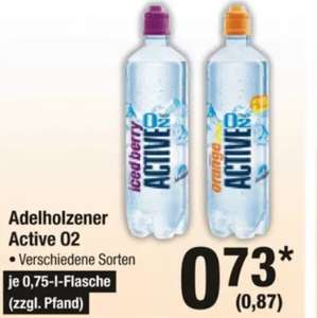 Adelholzener Active 02 Wasser 0,75 Liter Metro verschiedene Sorten