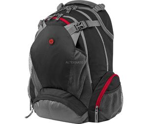 [nbb]  HP Full Featured (F8T76AA) Laptop Rucksack 43,9 cm (17,3 Zoll) schwarz/rot