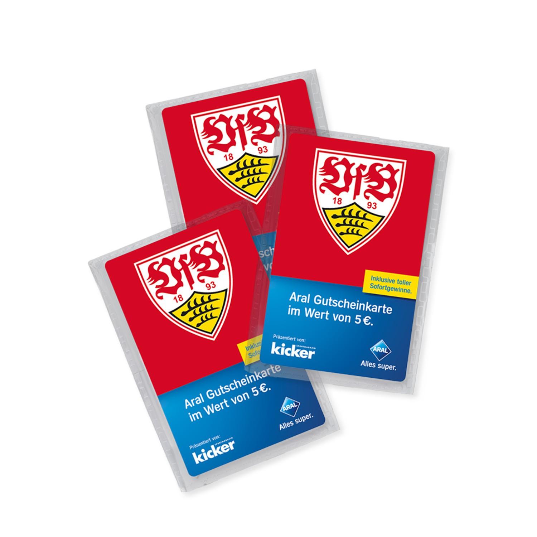 VfB Stuttgart Aral Supercard für 15 € kaufen und 4 € Waschgutschein kostenlos erhalten