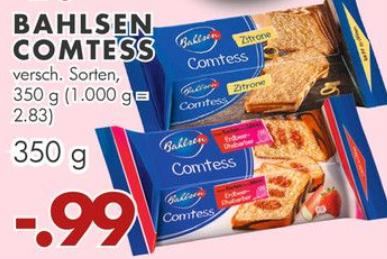 Bahlsen Comtess Kuchen 350g für 0,99€ // Mezzo Mix 12x1,0l für 5,55€ // Kerrygold Extra 150g oder Hohes C 1,0l für 0,77€ bei Jawoll