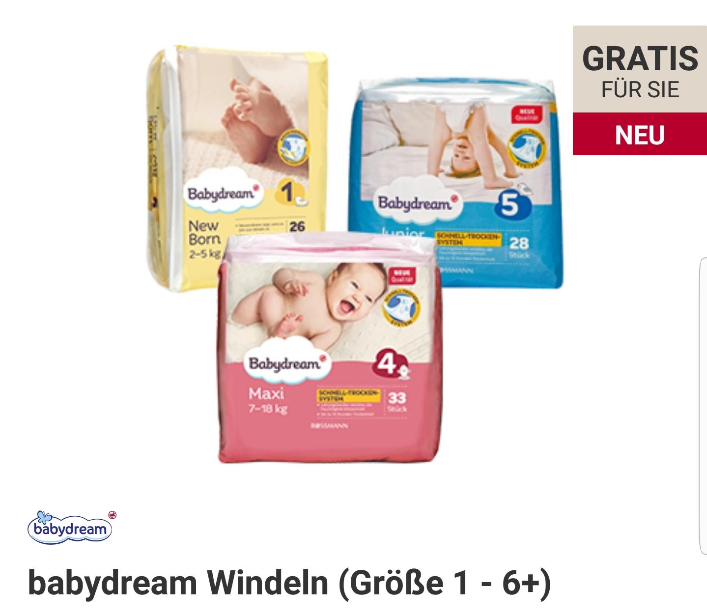 ROSSMANN Babywelt 1 PACK BABYDREAM WINDELN gratis