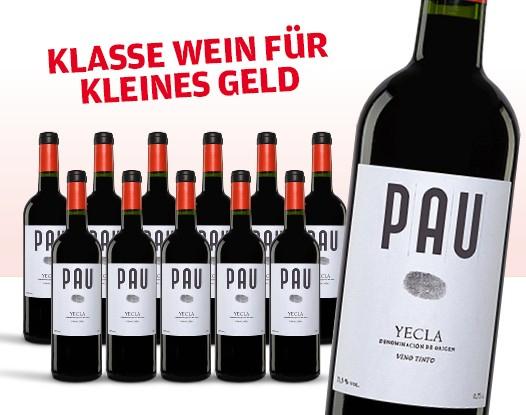 Vinos: Pau Tinto, trockener Rotwein (Monastrell 70%, Syrah/Shiraz 25%, Merlot 5%) 12 Flaschen Karton