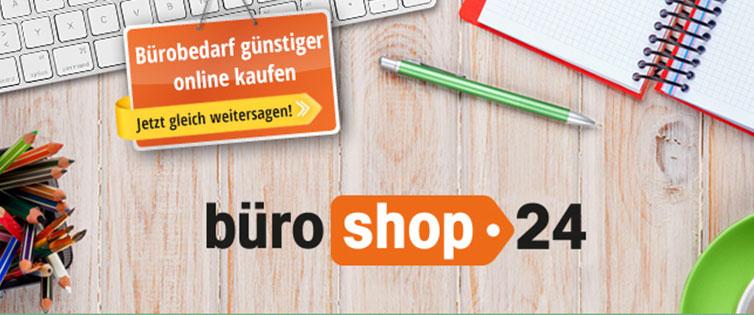(Shoop) Büroshop24 8% Cashback + 10€ Shoop.de-Gutschein + gratis HARIBO Liebesherzen