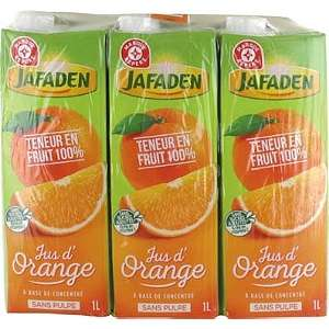 [Grenzgänger FR] Sammeldeal Jafaden Fruchtsäfte und Fruchtsaftgetränke bei E. Leclerc - z.B. Orangensaft für 0,56 € pro Liter