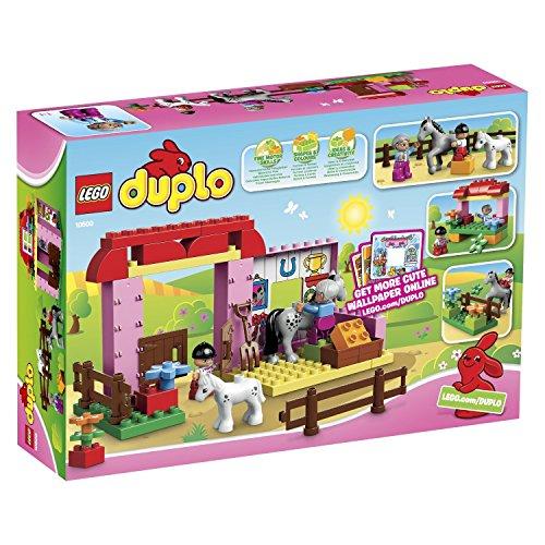 Prime: Lego-Duplo-10500-Pferdestall-Mit-Pferd-und-Fohlen-Rosa-Scheune-und-Zaun