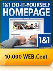 10000 Web-Cent von Web.de & 1&1 für Test der Homepage Produkte