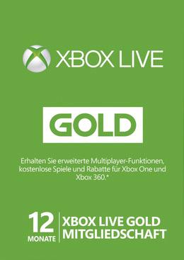 Microsoft Xbox Live Gold - 12 Monate für 34,90€ (Gamesdeal)