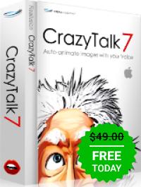 Giveaway of the day — Crazy Talk 7.32 Standard Crazy Talk 7 ist eine Gesichtsanimationssoftware, die Stimmen und Text verwendet.
