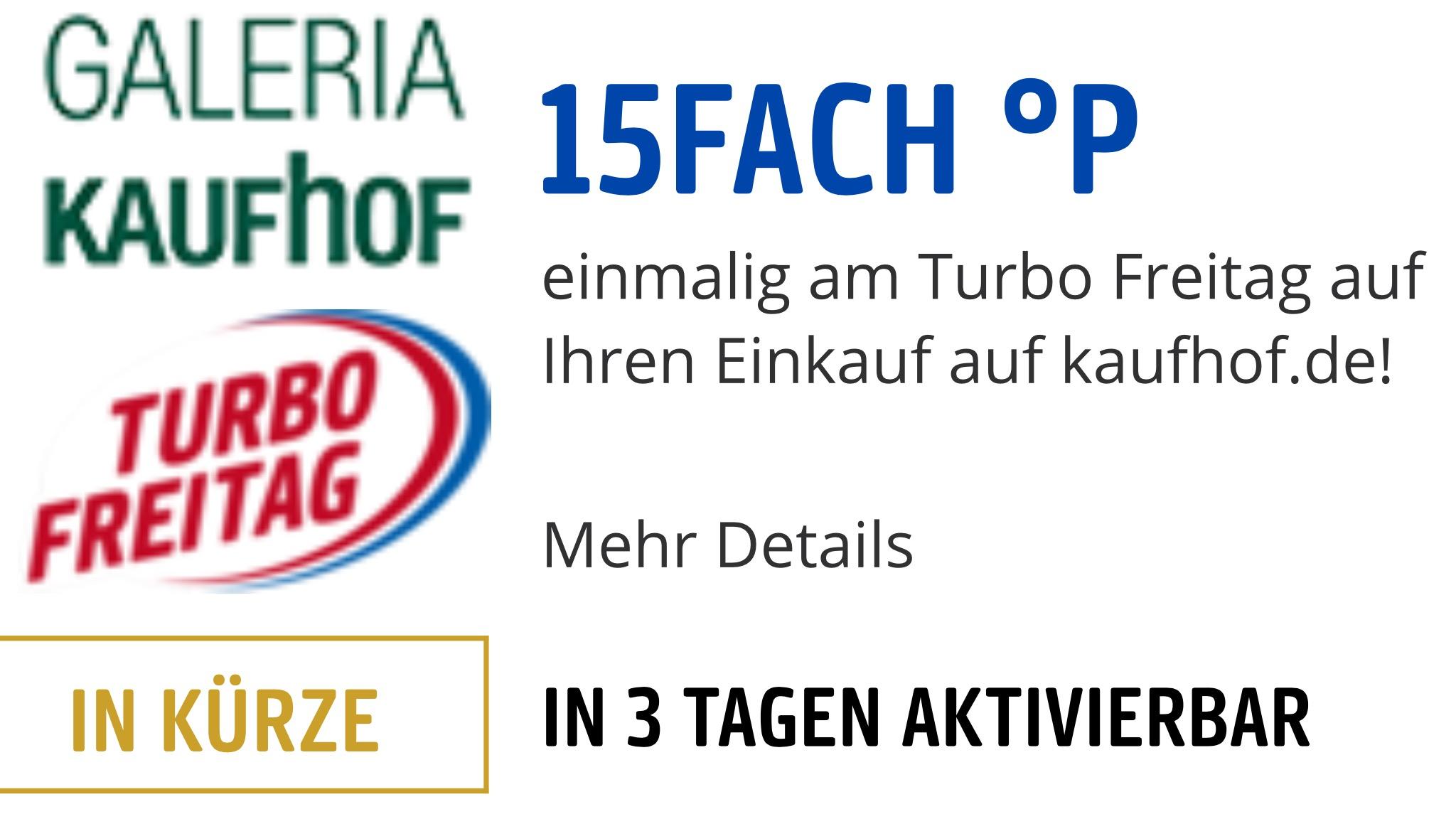 Payback 15fach Punkte Galeria Kaufhof am Turbo Freitag