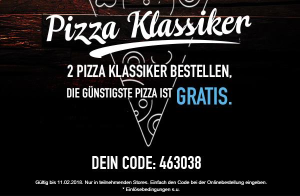 Domino's - 2 Pizza Klassiker zum Preis von einem (dem teureren)