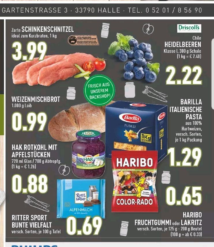 [Lokal Marktkauf Halle] Barilla Pasta Nudeln für 1,29€ pro KG