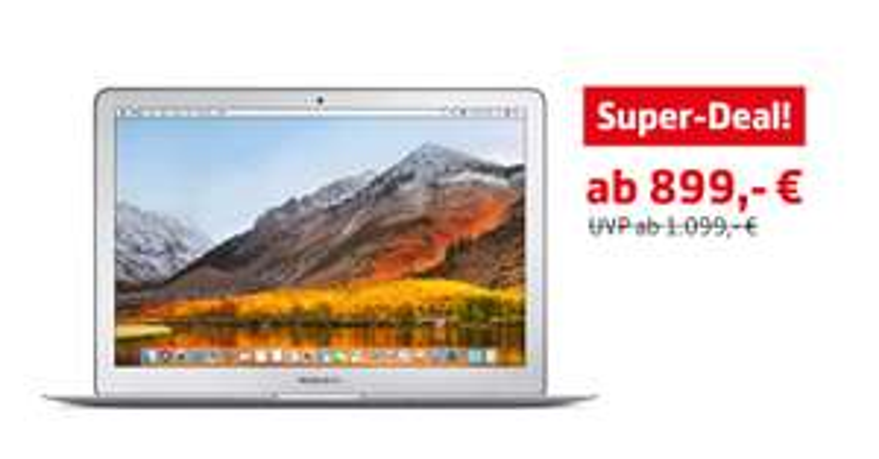"""MacBook Air 13,3"""" beim Apple Händler für 899 €"""