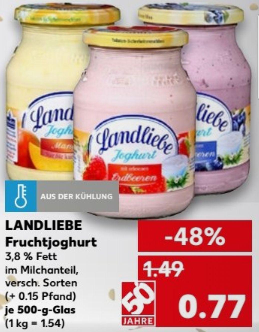 [Kaufland] Landliebe Fruchtjoghurt 500g Glas oder beim Kauf von 6 für je 0.60€