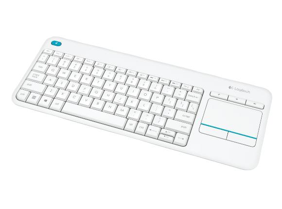 Logitech K400 Plus Touch Wireless Tastatur weiß (QWERTZ, deutsches Tastaturlayout)
