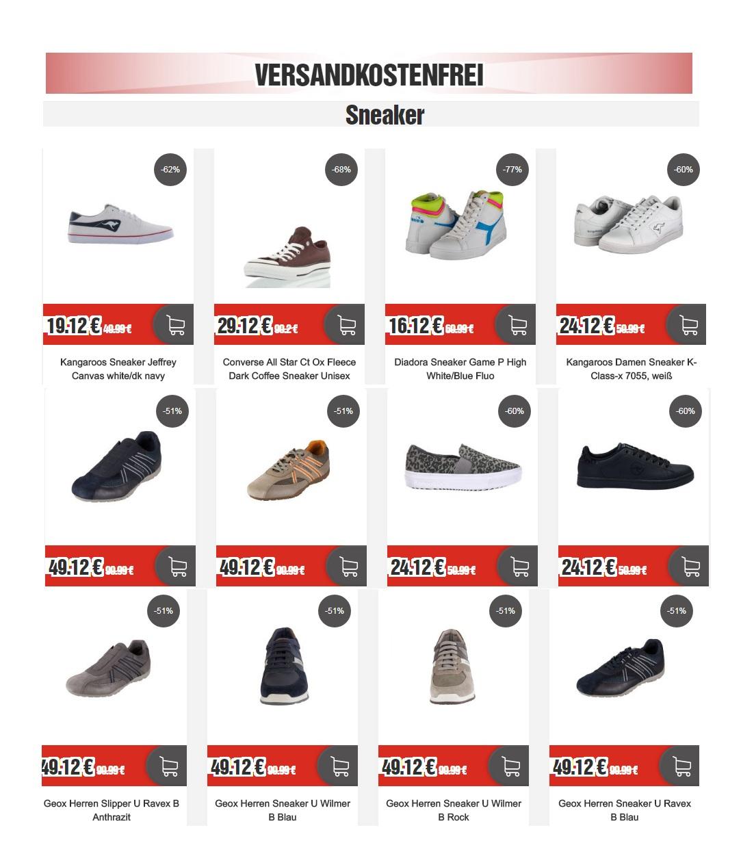 Jetzt bei Top12.de: Sneaker ab 16,12€ versandkostenfrei!