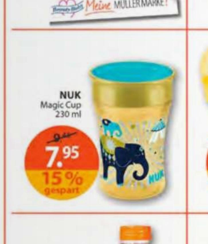 [Müller/Rossmann/Kaufland Lokal] NUK - Magic Cup Trinklern Becher 230ml