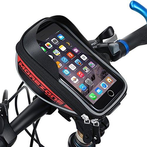 Fahrradtasche - Handyhalterung für Handy´s bis 5,5 Zoll nur in rot und mit amazon prime