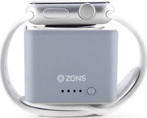 Powerbank für Apple Watch, ZENS ZEPW01G/00 1300 mAh Grau