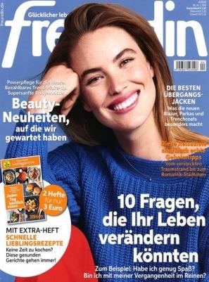 """1 Jahr lang """"freundin"""" lesen für 14,95 € statt 85,80 € @Kioskpresse"""