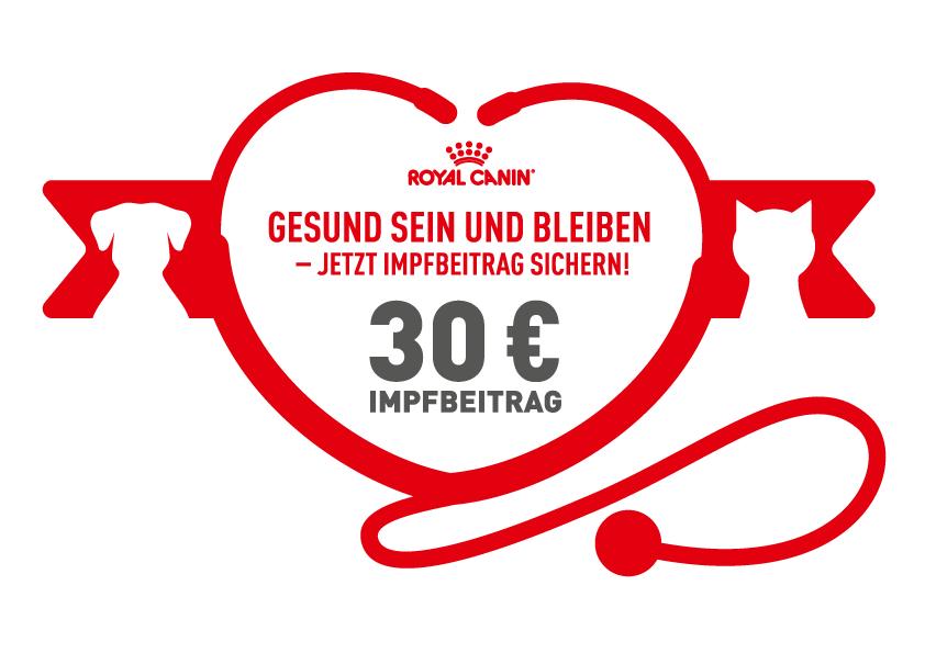 Cashback bis 30€ bei Royal Canin für Impfung
