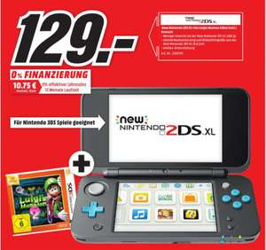 [Eröffnungsangebote Kirchheim/Nürtingen] Zb...Nintendo New 2DS XL inc. Luigi's Mansion 2  für 129,-€ und weiteres...