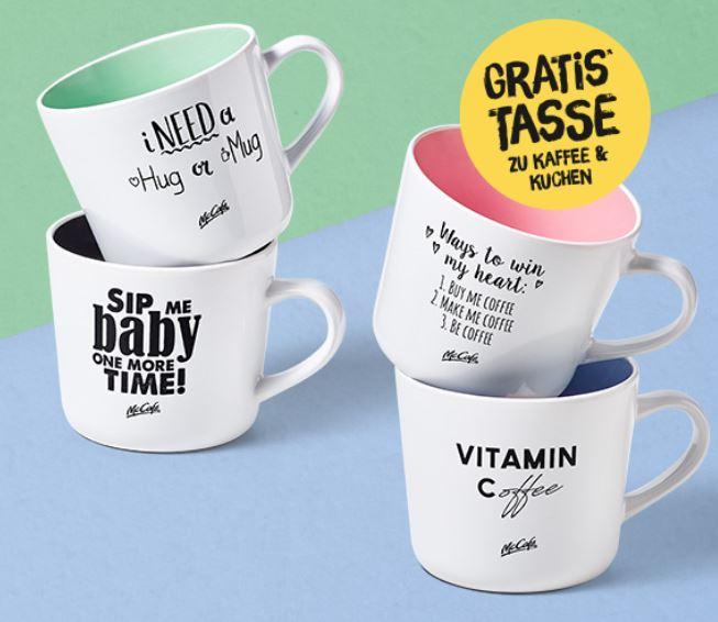 [McCafé in AT, Lokal] Gratis Tasse zu jeder Kaffee & Kuchen-Bestellung