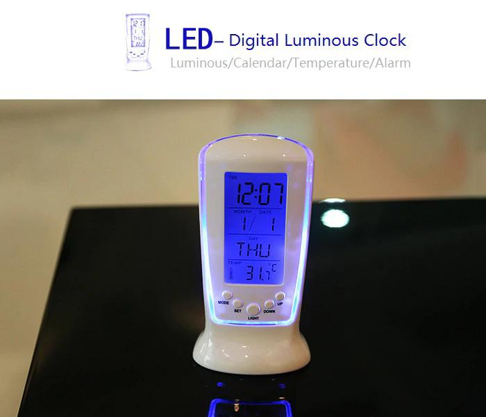 LCD Digital Alarm Wecker Temperatur Anzeige für 2,44€ @ Gamiss