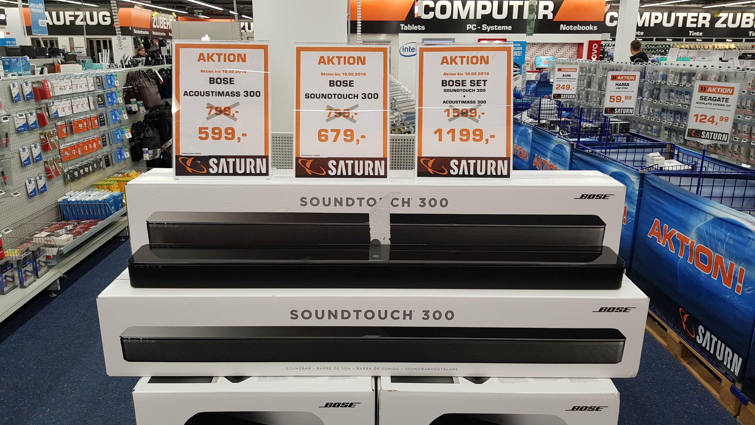 Bose Soundtouch 300 + Acoustimass 300 (Lokal Saturn Stuttgart Königsbaupassagen)